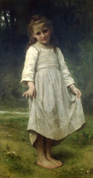 William-Adolphe Bouguereau - La révérence (The curtsey)