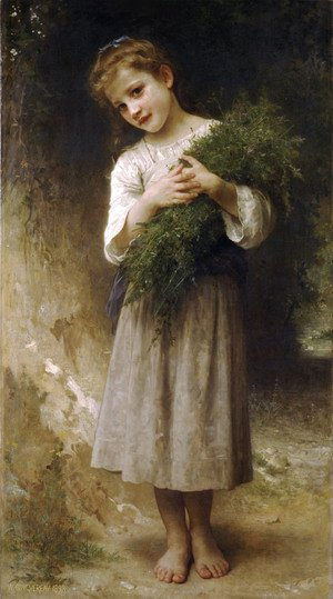 William-Adolphe Bouguereau - Retour des champs (Returned from the fields)