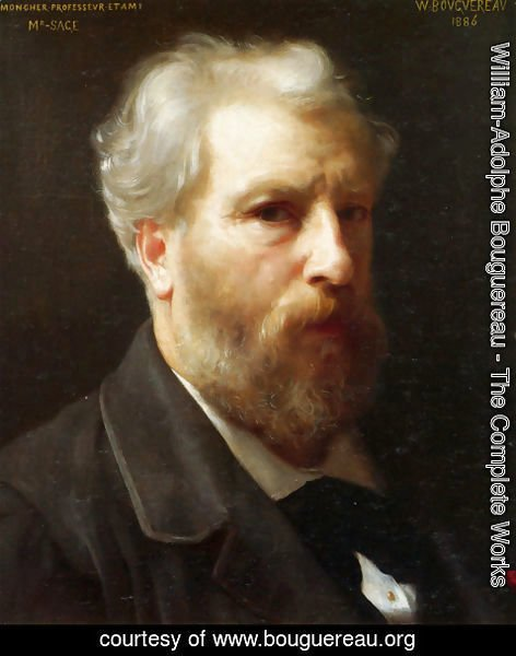 William-Adolphe Bouguereau - Autoportrait present� � M. Sage (Self-portrait presented to M. Sage)