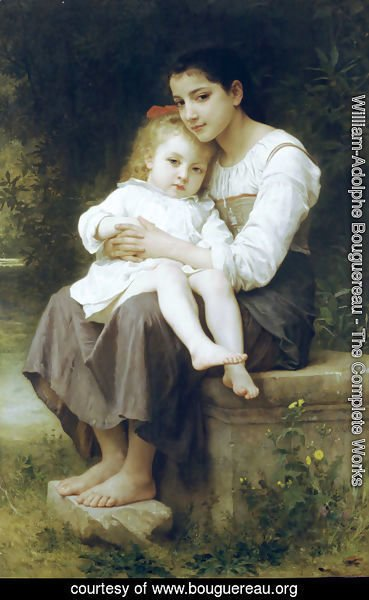William-Adolphe Bouguereau - La soeur aînée (Big sis')