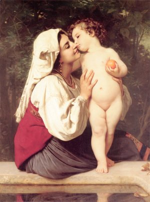 William-Adolphe Bouguereau - Le Baiser (The Kiss)