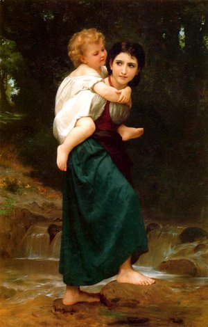 William-Adolphe Bouguereau - Le Passage du gué (The Crossing of the Ford)