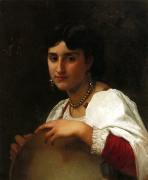 William-Adolphe Bouguereau - L'italienne au tambourin (Italian Girl with Tambourine)