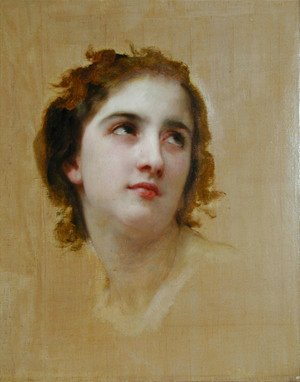 William-Adolphe Bouguereau - Sketch of a Young Woman [detail]