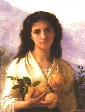 William-Adolphe Bouguereau - Girl Holding Lemons