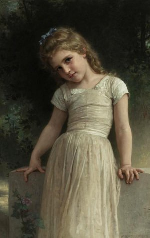 William-Adolphe Bouguereau - The Mischievous One