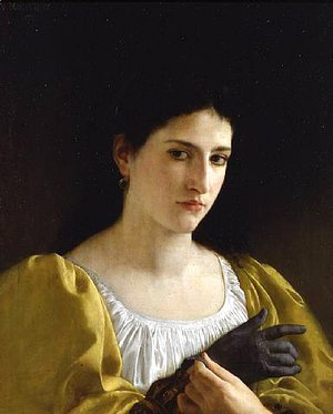 William-Adolphe Bouguereau - Lady with Glove