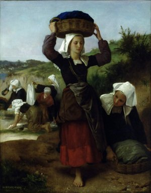 William-Adolphe Bouguereau - Washerwomen of Fouesnant