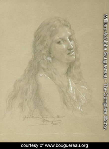 William-Adolphe Bouguereau - Drawing of a Woman