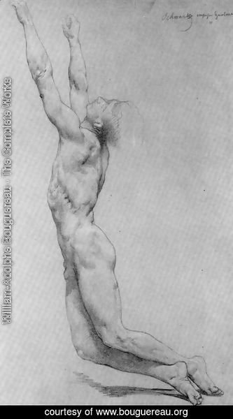 William-Adolphe Bouguereau - Study for The Flagellation of Christ
