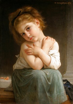 William-Adolphe Bouguereau - La frileuse (Chilly girl)