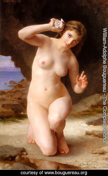 William-Adolphe Bouguereau - Femme au Coquillage (Woman with Seashell)