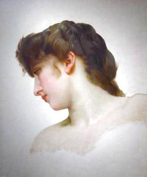 William-Adolphe Bouguereau - Étude de Tête de Femme Blonde Profil (Study of a Blonde Woman's Profile)