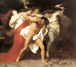 William-Adolphe Bouguereau - Orestes Pursued by the Furies