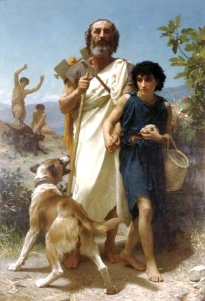 William-Adolphe Bouguereau - Homer and His Guide