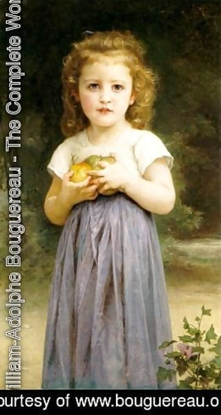 William-Adolphe Bouguereau - Little Girl Holding Apples