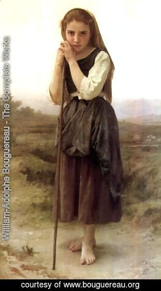 William-Adolphe Bouguereau - The Little Shepherdess