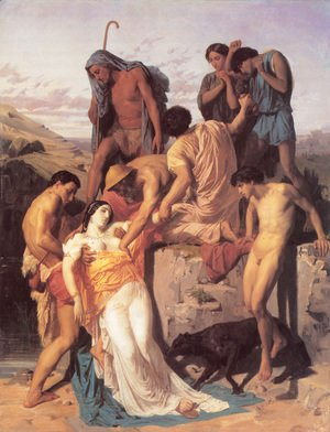William-Adolphe Bouguereau - Zenobia found by shepherds on the banks of the Araxes