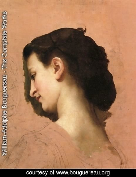 William-Adolphe Bouguereau - Study of a Young Girl's Head