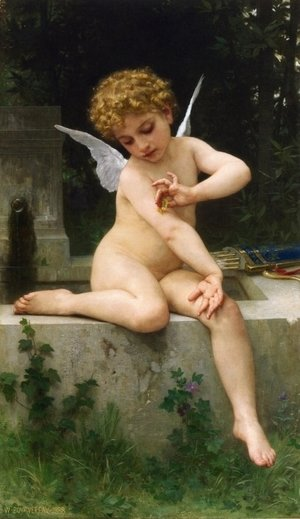 William-Adolphe Bouguereau - Cupid with Butterfly