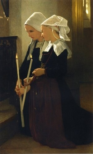 William-Adolphe Bouguereau - Prayer at Sainte-Anne-d'Auray