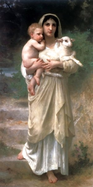 William-Adolphe Bouguereau - Lambs
