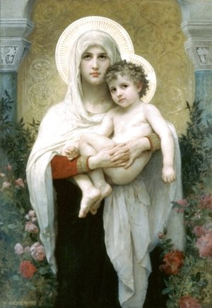 William-Adolphe Bouguereau - The Madonna of the Roses