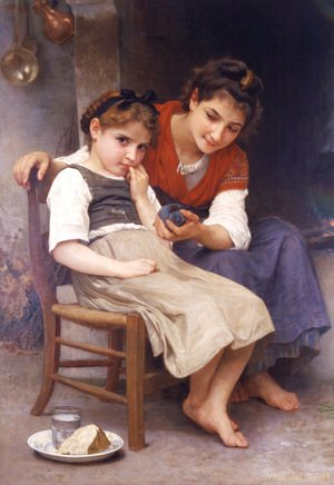 William-Adolphe Bouguereau - Petite boudeuse (The little sulk)