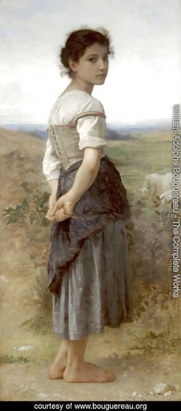 William-Adolphe Bouguereau - Jeune Bergere (Young Shepherdess)
