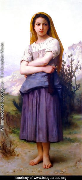 William-Adolphe Bouguereau - Tricoteuse (The Knitter)