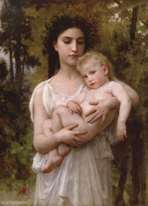 William-Adolphe Bouguereau - Le jeune frere (Little brother) 2