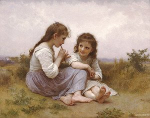 William-Adolphe Bouguereau - A Childhood Idyll