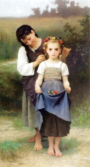 William-Adolphe Bouguereau - Crown of Flowers