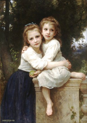 William-Adolphe Bouguereau - Deux Soeurs [Two Sisters]