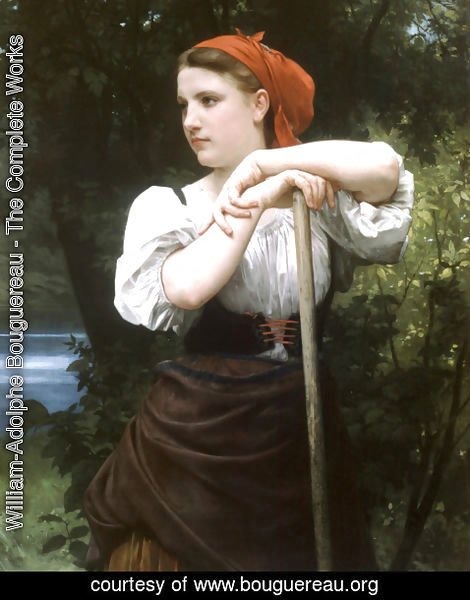 William-Adolphe Bouguereau - Faneuse [The Haymaker]