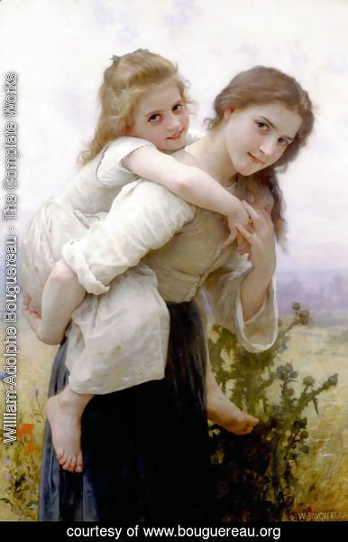 William-Adolphe Bouguereau - Fardeau Agreable [Not too Much to Carry]