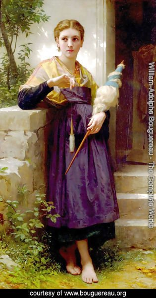 William-Adolphe Bouguereau - Fileuse [The Spinner]