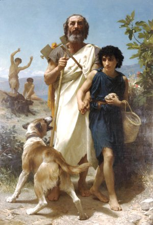 William-Adolphe Bouguereau - Homere et son Guide [Homer and his Guide]