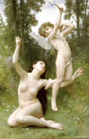 William-Adolphe Bouguereau - L'Amour s'envole [Love Takes Flight]