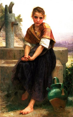 William-Adolphe Bouguereau - La Cruche Cassée [The Broken Pitcher]