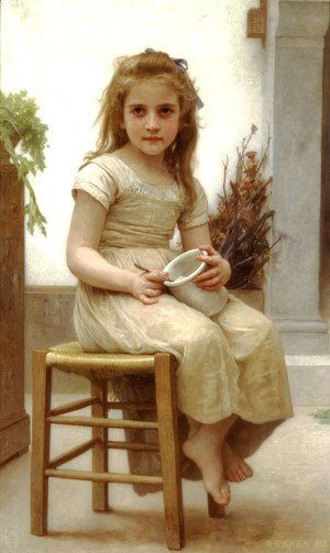 William-Adolphe Bouguereau - Le Goûter [Just a Taste]
