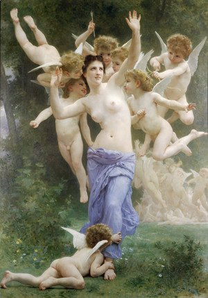 William-Adolphe Bouguereau - Le Guêpier [The Wasp's Nest]