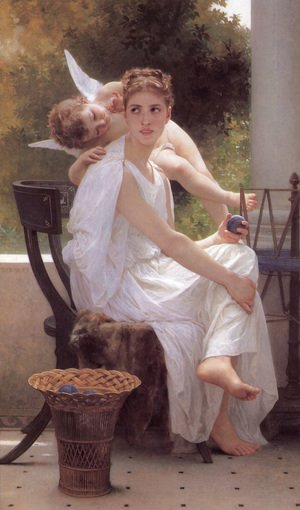William-Adolphe Bouguereau - Le Travail Interrompu [Work Interrupted]