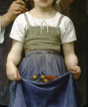 William-Adolphe Bouguereau - Parure des Champs [detail, lower right] [The Jewel of the Fields]