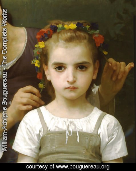 William-Adolphe Bouguereau - Parure des Champs [detail, right] [The Jewel of the Fields]