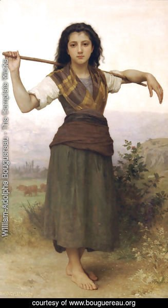 William-Adolphe Bouguereau - Pastourelle [Shepherdess]