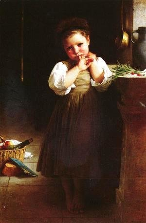 William-Adolphe Bouguereau - Petite boudeuse [The Little Sulk]