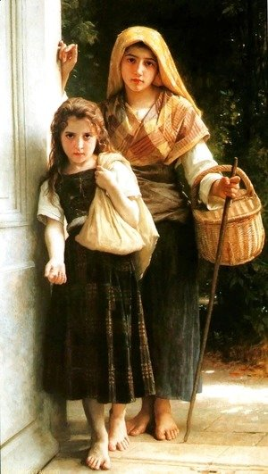 William-Adolphe Bouguereau - Petites mendiantes [Little beggars]