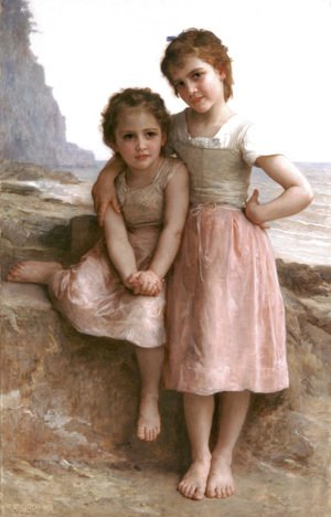 William-Adolphe Bouguereau - Sur la Greve [On the Rocky Beach]