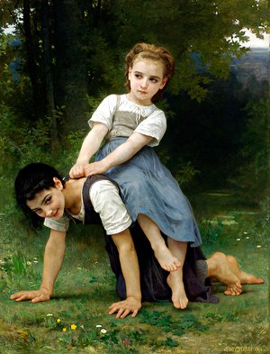 William-Adolphe Bouguereau - The Horseback Ride